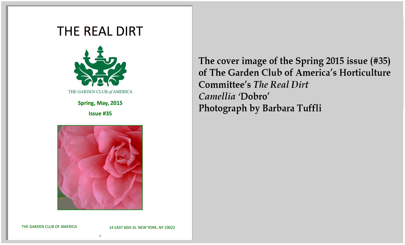Press: Cover Image The Real Dirt Spring 2015 #35